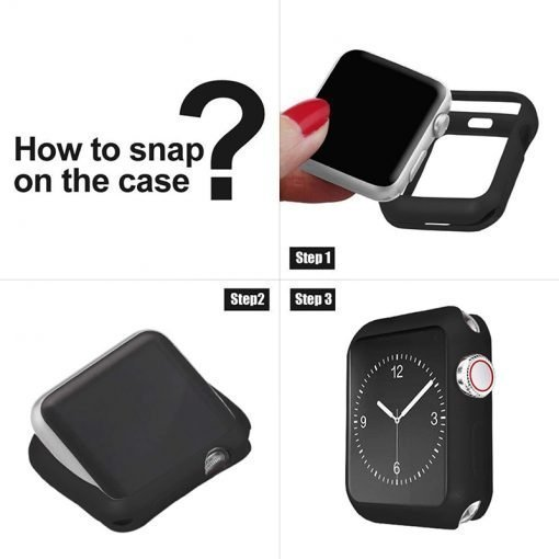 Apple Watch Screen Protectors - Silicone Bumper Case for Apple Watch Installation Instructions Series 1 2 3 4 5 38mm 40mm 42mm 44mm