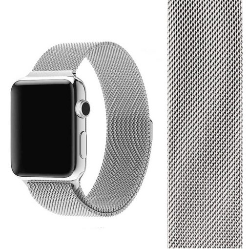 Apple Watch Bands - Milanese Loop Strap Silver Series 1 2 3 4 5 38mm 40mm 42mm 44mm