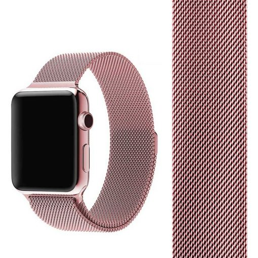 Apple Watch Bands - Milanese Loop Strap Rose Gold Series 1 2 3 4 5 38mm 40mm 42mm 44mm