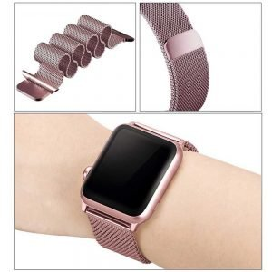 Apple Watch Bands - Milanese Loop Strap Rose Pink Series 1 2 3 4 5 38mm 40mm 42mm 44mm