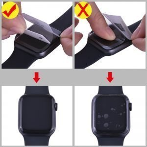 Apple Watch Screen Protectors - Clear Film installation instructions Series 1 2 3 4 5 38mm 40mm 42mm 44mm