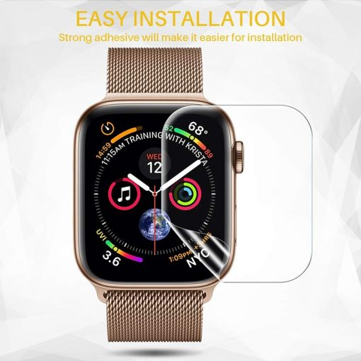 Apple Watch Screen Protectors - Clear Film installation Series 1 2 3 4 5 38mm 40mm 42mm 44mm