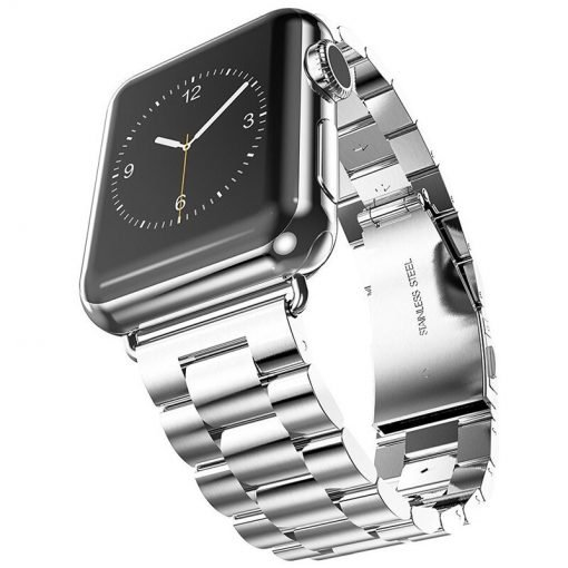 Apple Watch Bands - Stainless Steel Band Silver Series 1 2 3 4 5 38mm 40mm 42mm 44mm