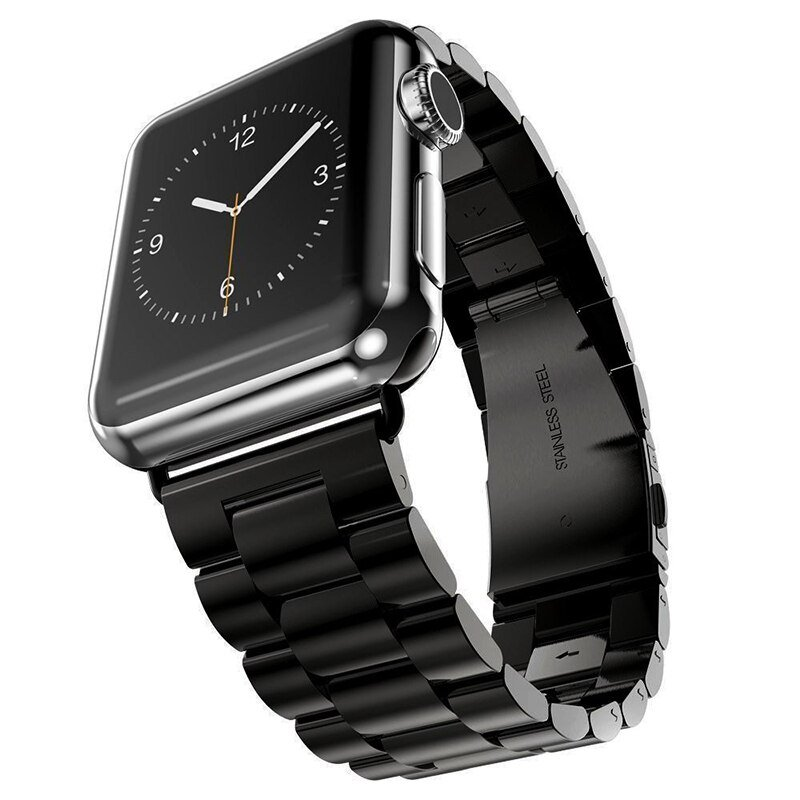 Stainless Steel Apple Watch Bands - Black | SmartaWatches