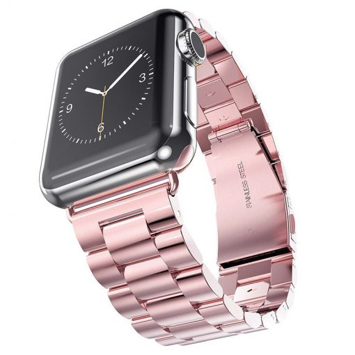 Apple Watch Bands - Stainless Steel Band Rose Pink Series 1 2 3 4 5 38mm 40mm 42mm 44mm
