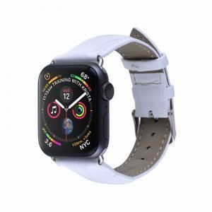 Apple Watch Bands - Genuine Leather Band White Series 1 2 3 4 5 38mm 40mm 42mm 44mm
