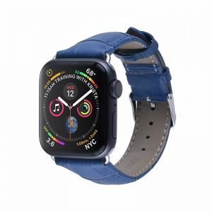 Apple Watch Bands - Genuine Leather Band Straps Sapphire Blue Series 1 2 3 4 5 38mm 40mm 42mm 44mm