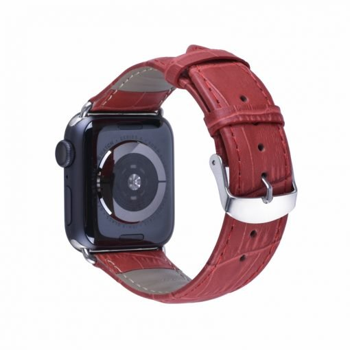 Apple Watch Bands - Genuine Leather Band Red Series 1 2 3 4 5 38mm 40mm 42mm 44mm
