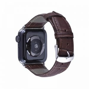 Apple Watch Bands - Genuine Leather Band Coffee Series 1 2 3 4 5 38mm 40mm 42mm 44mm