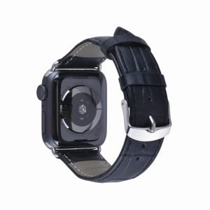 Apple Watch Bands - Genuine Leather Band Black Series 1 2 3 4 5 38mm 40mm 42mm 44mm