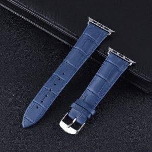 Apple Watch Bands - Genuine Leather Band Straps Saphire Blue Series 1 2 3 4 5 38mm 40mm 42mm 44mm