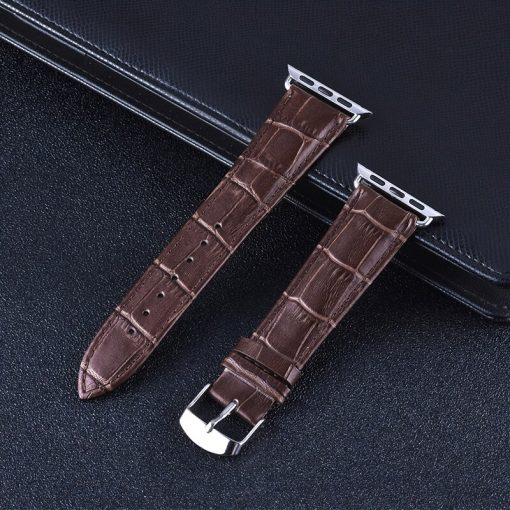 Apple Watch Bands - Genuine Leather Band Straps Coffee Series 1 2 3 4 5 38mm 40mm 42mm 44mm