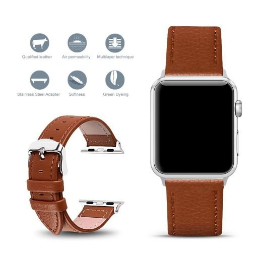 Apple Watch Bands - Signature Leather Band Brown Series 1 2 3 4 5 38mm 40mm 42mm 44mm