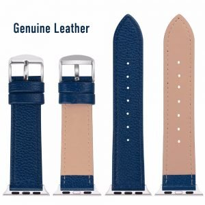 Apple Watch Bands - Signature Leather Blue Apple Watch Band Straps Series 1 2 3 4 5 38mm 40mm 42mm 44mm