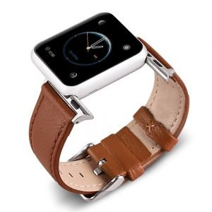 Apple Watch Bands - Signature Leather Brown Apple Watch Band Series 1 2 3 4 5 38mm 40mm 42mm 44mm