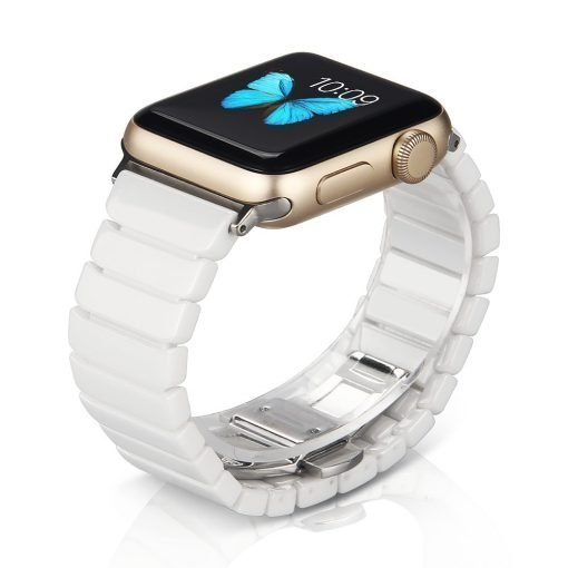 Apple Watch Bands - Ceramic Link Apple Watch Band White Series 1 2 3 4 5 38mm 40mm 42mm 44mm