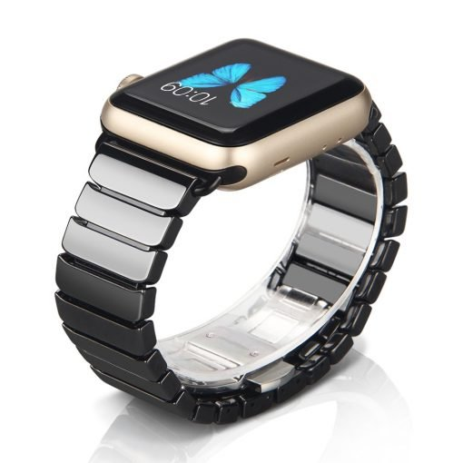 Apple Watch Bands - Ceramic Link Apple Watch Band Black Series 1 2 3 4 5 38mm 40mm 42mm 44mm