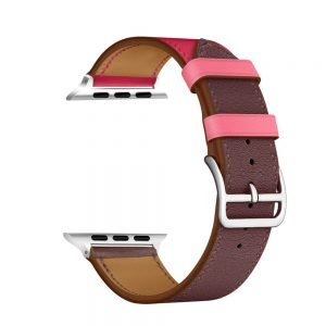 Apple Watch Bands - Vibrant Leather Band Pink Purple Series 1 2 3 4 5 38mm 40mm 42mm 44mm