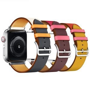 Apple Watch Bands - Vibrant Leather Band Range Series 1 2 3 4 5 38mm 40mm 42mm 44mm