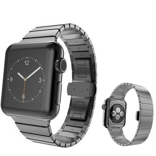 Apple Watch Bands - Luxury Stainless Steel Band Black suitable for Series 1 2 3 4 5 38mm 40mm 42mm 44mm