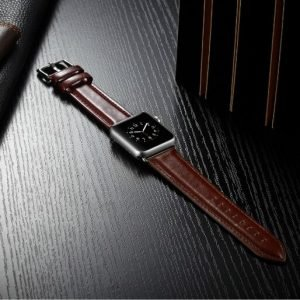 Apple Watch Bands - Luxury Leather Band Dark Brown suitable for Series 1 2 3 4 5 38mm 40mm 42mm 44mm