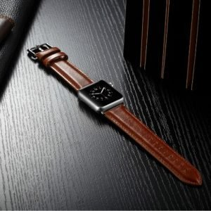 Apple Watch Bands - Luxury Leather Band Brown suitable for Series 1 2 3 4 5 38mm 40mm 42mm 44mm