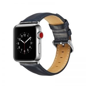 Apple Watch Bands - Luxury Leather Band Dark Blue suitable for Series 1 2 3 4 5 38mm 40mm 42mm 44mm