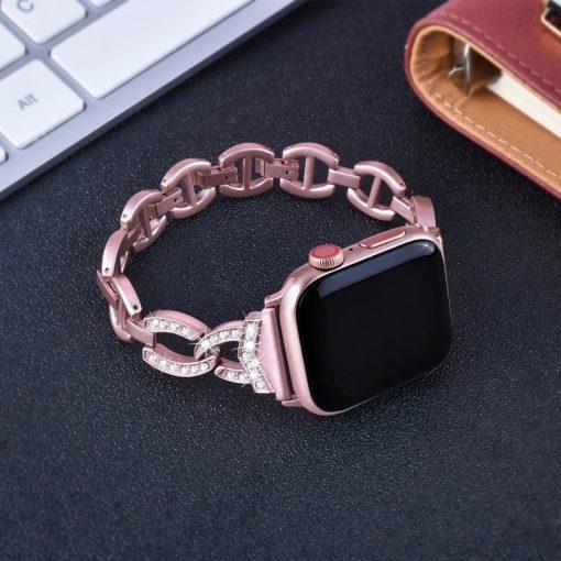 Apple Watch Bands - Dress Bracelet Rose Pink Series 1 2 3 4 5 38mm 40mm 42mm 44mm