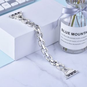 Apple Watch Bands - Dress Bracelet Silver Series 1 2 3 4 5 38mm 40mm 42mm 44mm
