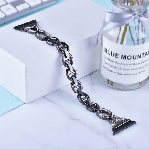 Apple Watch Bands - Dress Bracelet Black Series 1 2 3 4 5 38mm 40mm 42mm 44mm