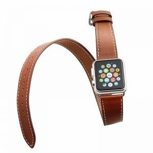 Apple Watch Bands - Double Tour Leather Band Apple Watch Band Brown 38mm 40mm 42mm 44mm