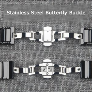 Apple Watch Bands - Luxury Ceramic Band Butterfly Buckle suitable for Series 1 2 3 4 5 38mm 40mm 42mm 44mm
