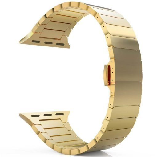 Apple Watch Bands - Luxury Stainless Steel Band Gold Series 6 SE 5 4 3 2 1 38mm 40mm 42mm 44mm