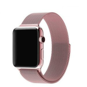 Apple Watch Bands - Milanese Loop Band Strap Rose Pink Series 1 2 3 4 5 38mm 40mm 42mm 44mm