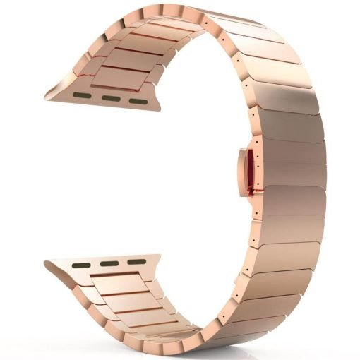 Apple Watch Bands - Luxury Stainless Steel Band Rose Gold Series 6 SE 5 4 3 2 1 38mm 40mm 42mm 44mm