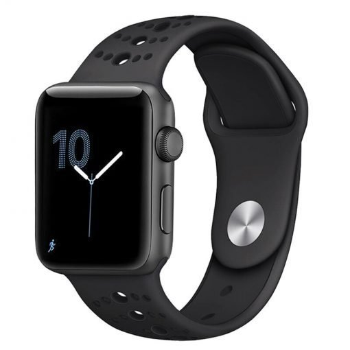 Apple Watch Bands - Modern Sports Silicone Apple Watch Band Black 38mm 40mm 42mm 44mm Front