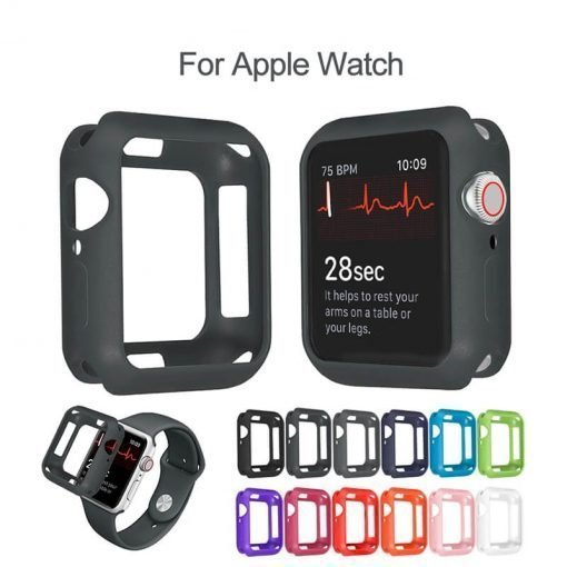 Apple Watch Screen Protector - Silicone Bumper Case for Apple Watch 38mm 40mm 42mm 44mm