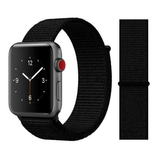 Apple Watch Bands - Sport Loop Colour 07 Dark Black 38mm 40mm 42mm 44mm