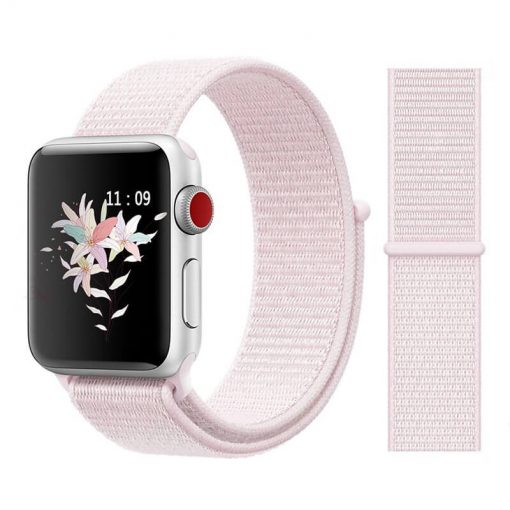 Apple Watch Bands - Sport Loop Colour 18 Pearl Pink 38mm 40mm 42mm 44mm