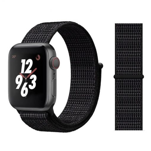 Apple Watch Bands - Sport Loop Colour 24 Black 38mm 40mm 42mm 44mm