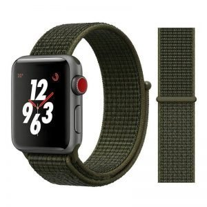 Apple Watch Bands - Sport Loop Colour 30 Olive Green 38mm 40mm 42mm 44mm