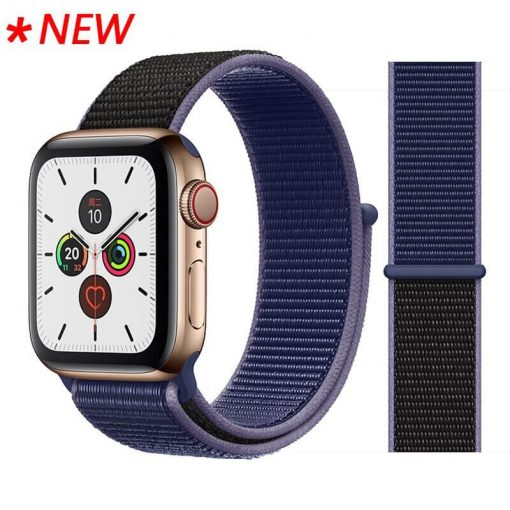 Apple Watch Bands - Sport Loop Colour 51 Purple Black 38mm 40mm 42mm 44mm