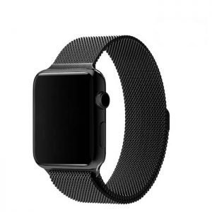 Apple Watch Bands - Black Milanese Loop for Apple Watch 38mm 40mm 42mm 44mm