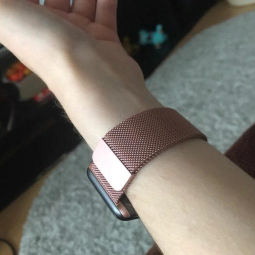 Apple Watch Bands - Milanese Loop Rose Pink 38mm 40mm 42mm 44mm 1
