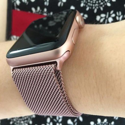 Apple Watch Bands Milanese Loop Rose Pink 40mm 44mm Series 6 SE