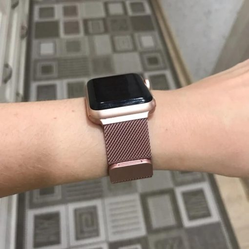 Apple Watch Bands - Milanese Loop Rose Pink 38mm 40mm 42mm 44mm 7