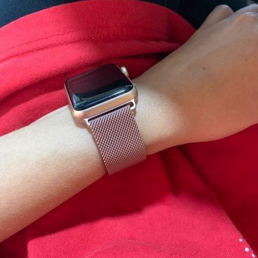 Apple Watch Bands - Milanese Loop Rose Pink 38mm 40mm 42mm 44mm 8