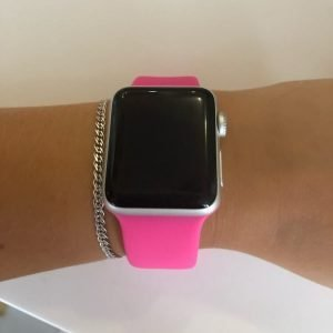 Apple Watch Bands - Bright and Soft Silicone Apple Watch Band 38mm 40mm 42mm 44mm Barbie Pink 7