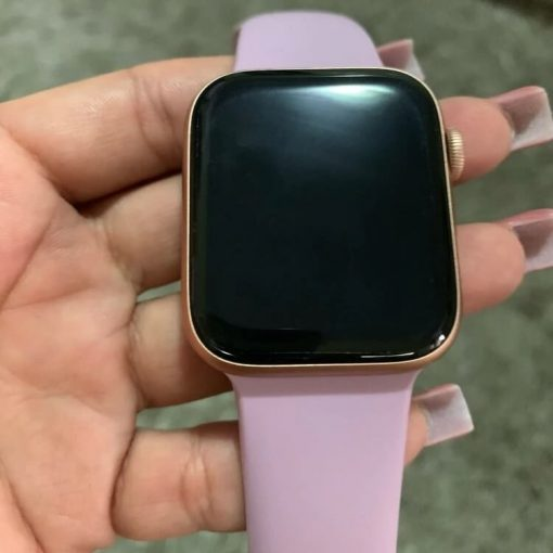 Apple Watch Bands - Bright and Soft Silicone Apple Watch Band 38mm 40mm 42mm 44mm Light Pink 10