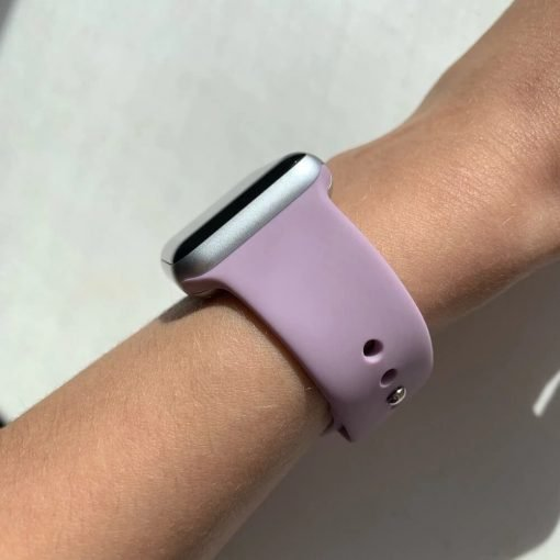 Apple Watch Bands - Bright and Soft Silicone Apple Watch Band Series 6 SE 38mm 40mm 42mm 44mm Light Purple
